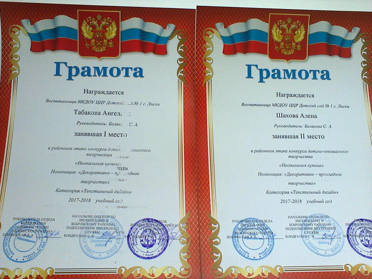 Были вручены дипломы и памятные подарки